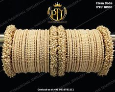 "Punjabi Traditional ""Gold Plated Pearl Bangles Set"" Item Code - PTJ For price please inbox with Image or WhatsApp at this number Bridal Bangles, Gold Bangles, Silver Bracelets, Bridal Jewelry, Silver Jewelry, Indian Bangles, Antique Jewelry, Jewelry Rings, Etsy Jewelry"