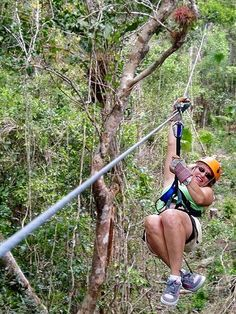 Zip Lining  as long as it's not to high up. little chicken