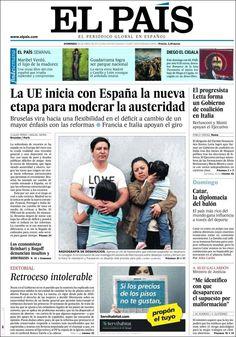 Los Titulares y Portadas de Noticias Destacadas Españolas del 28 de Abril de 2013 del Diario El País ¿Que le parecio esta Portada de este Diario Español?