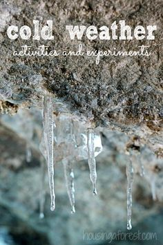 Winter activities and Science experiments that embrace the cold.  Your kids are going to love these!