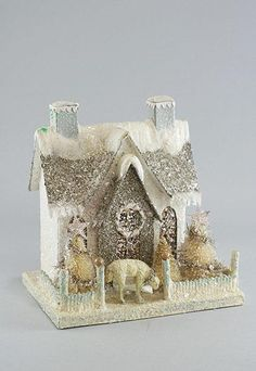 Would love to start collecting Cody Foster Decor.  White Putz House with Lamb