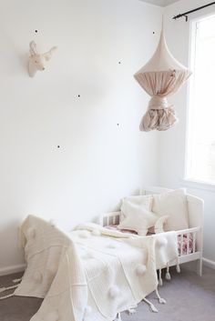 Adorable toddler room featuring our powder canopy! #numero74 #kidsroom #kidsdecor