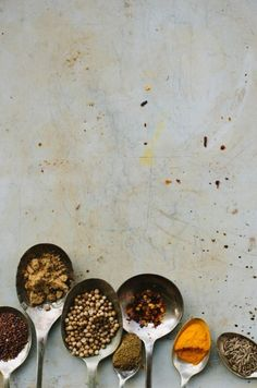 Beautiful simple spices food photography styling