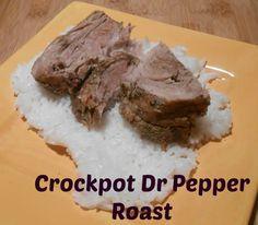 Crockpot Dr Pepper Roast #crockpot #roast #drpepper