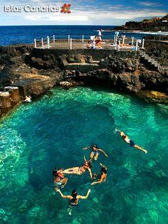 Charco Azul en la isla de La Palma