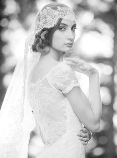 vintage atelier veil by #livhart  #vintage #bridalaccessories #classic http://www.weddingchicks.com/2013/12/20/enchanted-atelier-by-liv-hart/