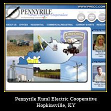 My Web Design Clients: Pennyrile Rual Electric Cooperative. Hopkinsville, Kentucky.