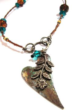 HEart and flower jewelry by Linda Cain