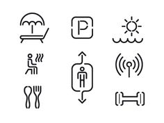 Sveti Luka icons very familiar to icons for Pacific Place Mall App Ui Design, Icon Design, Logo Design, Signage Design, Typography Design, Graphic Design Print, Cute Icons, Pictogram, Visual Communication