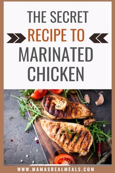 This simple chicken marinade is the best, and easiest one you'll ever make! With only a few ingredients that you already have in your pantry, your chicken will taste the best yet with this easy marinade for chicken!