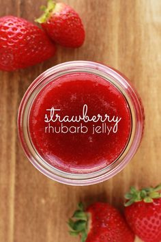 Whip up a quick batch of this strawberry rhubarb jelly to hand out to friends and family this holiday season!