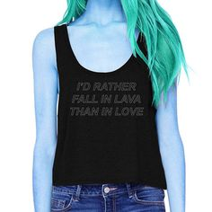 I'd Rather Fall in Lava Crop Tank tumbler shirt witchy
