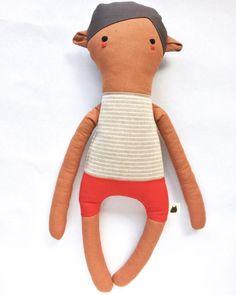 Nils - Plush Doll - Handmade creature - Stuffed Doll - Toy - Doll