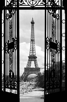 nice gate ...and view of Eiffel Tower