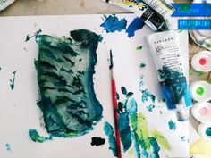 How to Gelliprint - #printmaking #creative