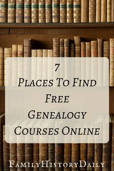 Looking for free genealogy research courses and webinars? From genealogy organization to DNA tests: there's an online ancestry class for you. #freegenealogy #ancestry