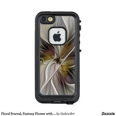 Floral Fractal, Fantasy Flower with Earth Colors LifeProof® FRĒ® iPhone 5 Case