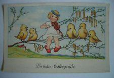 traumhafte alte AK Ostern Ostergrüße Osterhase ERIKA NR 4145  (K0007)