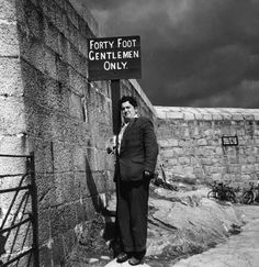 Brendan Behan at the Forty Foot, Sandy Cove, Dublin Dublin Bay, Dublin Ireland, Kilmainham Gaol, Dublin Hotels, Dublin Street, Sunday Paper, James Joyce, John Wayne, New Books