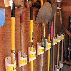 If you spend ages digging around to find the tools you need, it's time to make this PVC pipe storage system for your garden shed or garage.