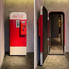 "There's a vintage Coca-Cola vending machine in Shanghai that hides a stylish up-scale bar called ""Flask."" The otherwise unassuming Coca-Cola machine stands in The Press, a sandwich shop that operates."