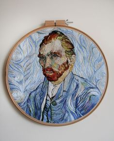 I Spent 350+ Hours Embroidering This Self-Portrait Of Van Gogh   Bored Panda