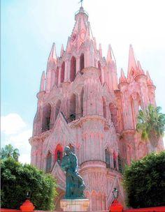 Pink Church, San Miguel, Mexico ...