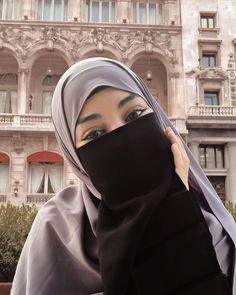 Niqab Fashion, Modest Fashion Hijab, Hijab Niqab, Hijab Chic, Hijab Dp, Arab Girls Hijab, Girl Hijab, Beautiful Muslim Women, Beautiful Hijab