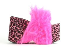 US 7 // 90's AvantGarde Neon Pink Shaggy Flatforms by RIDETHENOWAVE on Etsy, $112.00