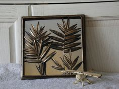 Bronze Looking Mirror With Pretty Leaves. by Daysgonebytreasures, $24.00