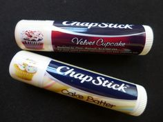 Cupcake flavored chapstick. YUM! Looks so good I'm wondering if we've got them in Australia.