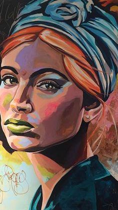 Painting Art Face Self Portraits Ideas For 2019 - Malerei Black Girl Art, Art Girl, African American Art, African Art, Art Afro Au Naturel, Abstract Portrait, Painting Portraits, Acrylic Paintings, Acrylic Face Painting
