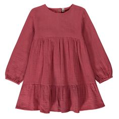 Cotton Gauze Dress Hundred Pieces Teen Children- A large selection of Fashion on Smallable, the Family Concept Store - More than 600 brands. Dress For Girl Child, Little Girl Dresses, Dresses For Teens, Baby Girl Fashion, Toddler Fashion, Kids Fashion, Smocked Baby Clothes, Gauze Clothing, Gauze Dress