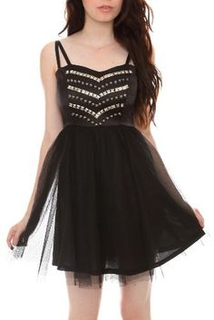 black stud tulle dress f/hot topic Hot Topic Clothes, Hot Topic Dresses, Emo Dresses, Nice Dresses, Casual Dresses, Punk Clothes, Awesome Dresses, Nice Clothes, Punk Outfits