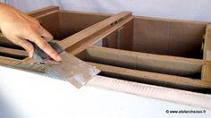 finition meuble en carton : enduit de rebouchage