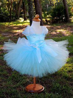 Cinderella Costume, Cinderella Tutu Dress, Disney princess birthday by Gurliglam, $65.00