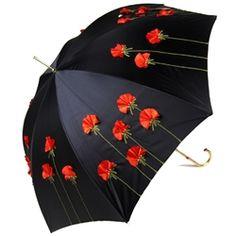 Pasotti Italian Umbrella LUX Poppies Ladies Umbrellas