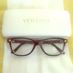 Versace Eyeglasses Optical Frames Black (VE3153) Black Versace eyeglasses!  In great condition no scratches. My prescription lenses are in them, all you need to do is replace with your own! Love these frames (selling because I got LASIK). Versace Accessories Glasses