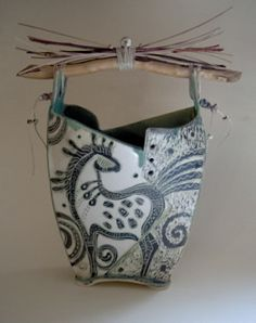 Love this Slab Built Horse Vase!! by Christine McKay