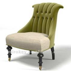 Mis En Demeure French classic tufted modern contemporary traditional art deco chair buttoned armchair by archstyle Art Deco Chair, Art Deco Furniture, Sofa Furniture, Furniture Design, Sofa Lounge, Sofa Set, Modern Armchair, Modern Chairs, 3d Max