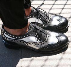 Mr. Doubt Brogue Oxford in Black & Silver
