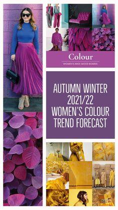 Fashion Colours, Colorful Fashion, Color Combinations For Clothes, Yoga Studio Design, Fashion Forecasting, Yoga Inspiration, Design Inspiration, Winter Trends, Winter Colors