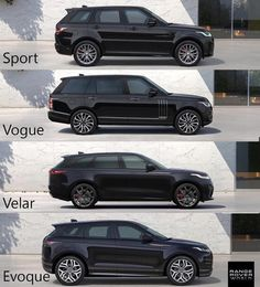 The ultimate Range Rover showdown💪, which model is best? Range Rover Evoque, Range Rover Sport, Range Rover Jeep, Pink Range Rovers, Range Rover Black, Top Luxury Cars, Luxury Suv, Land Rovers, My Dream Car