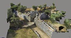 Site Archéologique modélisé en 3D grâce aux techniques de photogrammétrie par drone