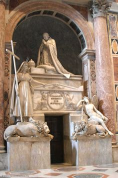 Tomb of Clement XIII in St. Peters, Roma:  saintpertersbasilica.org