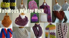 Fabulous Winter Bulk...17 Pretties For Toasty Winter Warmth (Free Knitting and Crochet Patterns)