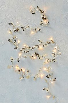 Gilded Leaves String Lights