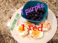 Yummy snacky snack. 21 day fix approved how simple can it be?? So tasty and healthy Yummy Yum One red, one purple