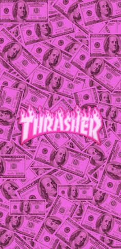 Thrasher Pink Money You are in the right place about wallpaper rosa brilhante Here we Bad Girl Wallpaper, Mood Wallpaper, Aesthetic Pastel Wallpaper, Iphone Background Wallpaper, Retro Wallpaper, Pink Aesthetic, Aesthetic Wallpapers, Logo Background, Money Background