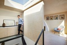 Gallery House Phase 2 by Studio Octupi Terraced House Loft Conversion, Attic Conversion, London Apartment, Apartment Interior, Roof Extension, House Extensions, Home Studio, Plywood, Interior Inspiration